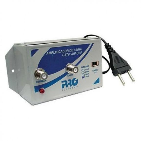 Detalhes do produto Amplificador de Linha 30db Pqal-3000 Proeletronic