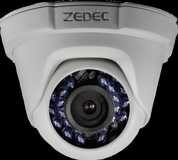 Detalhes do produto CÂMERA ZEDEC HD DOME IR